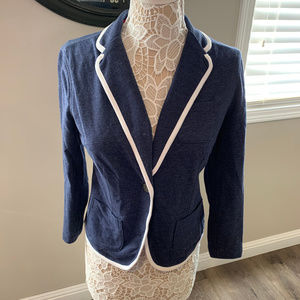 SO Juniors Soft Knit Blazer with Contrast Piping